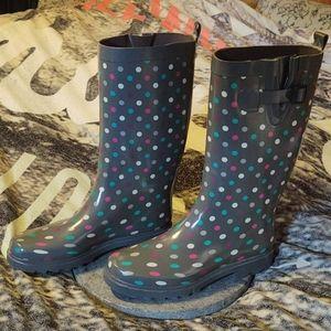Capelli Polkadot Tall Rain Boots Sz.10